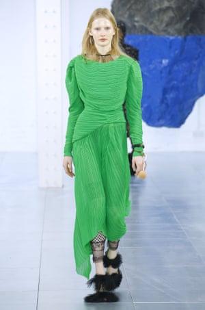 Green dress by Preen