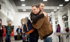 Pete and Adam meet at the airport in Cold Feet.