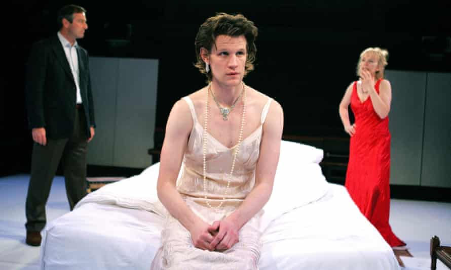Julian Wadham, Matt Smith and Lindsay Duncan in That Face in 2008. The play transferred to the West End after being staged at the Royal Court.
