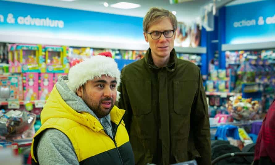 Asim Chaudhry and Stephen Merchant in Click and Collect.