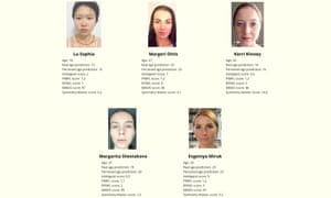 Winners of the Beauty.AI contest in the category for women aged 18-29.