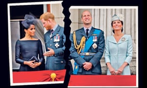 Meghan, Duchess of Sussex, Prince Harry, Prince William and Catherine, Duchess of Cambridge
