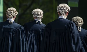 Barristers outside Brisbane's supreme court.