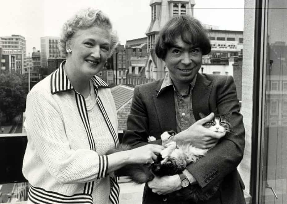 Lloyd Webber with TS Eliot's widow Valerie