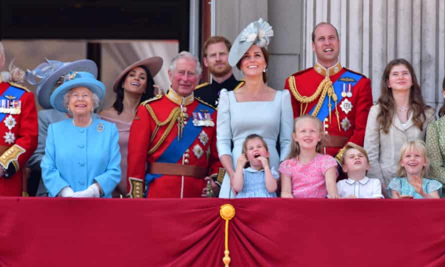 Royal family at Buckingham Palace.