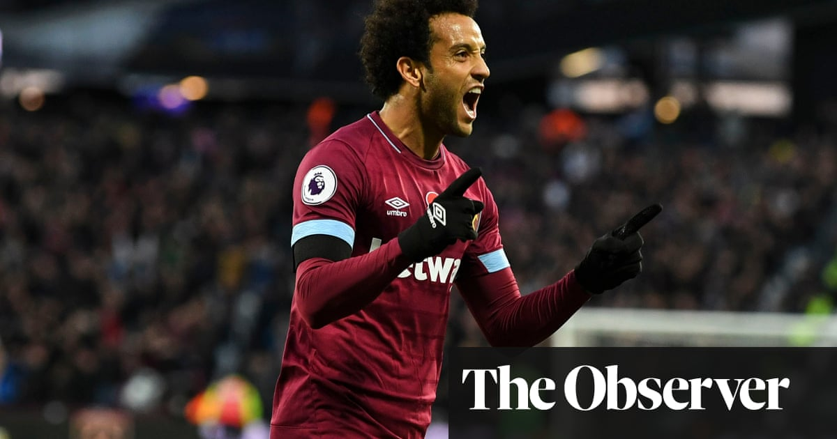 86b11f0ed92 Felipe Anderson double gives West Ham victory over Burnley in six ...