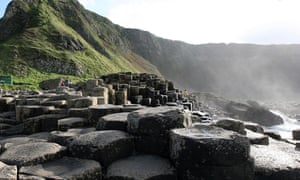 The Giant's Causeway on the coast of County Antrim, Northern Ireland.