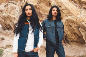 A fashion editorial shoot for Ginew, the only Indigenous-made denim clothing line