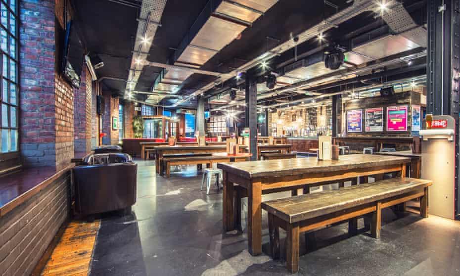 Cafe-bar at Newcastle Central YHA Hostel