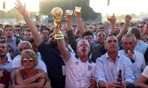 England fans may have been too busy enjoying the World Cup to go shopping last month