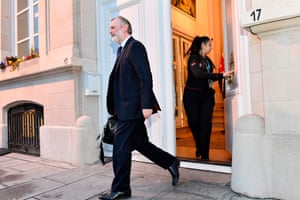 Tim Barrow, the UK's ambassador to the EU, leaves his residence in Brussels