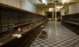 """The telephone exchange in """"Burlington"""", a 35-acre underground city just outside Bath, UK."""