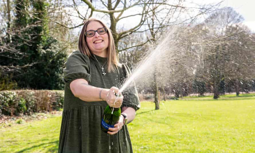 Lesley Herbert, who won £2m on a scratchcard in March.