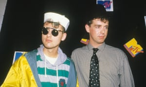 Escaping suburbia ... Pet Shop Boys at the 1986 MTV awards.