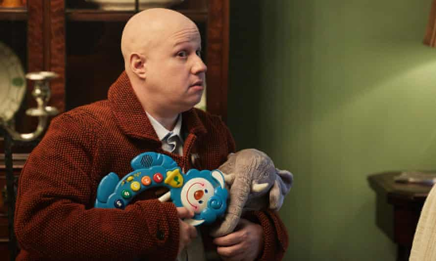 Something like a panto dame … Matt Lucas's Nardole, in a welcome return for the clumsy non-human assistant.