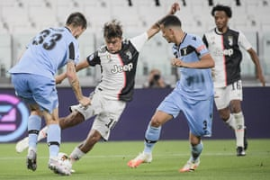 Paulo Dybala in action against Lazio in July.