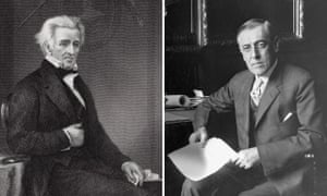 The rapist and the Klan lover … Andrew Jackson, seventh president of the United States, left, and Woodrow Wilson, 28th president.