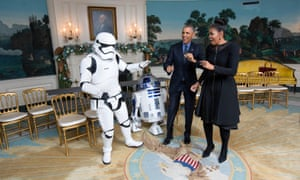 A member of Donald Trump's transition team meets the Obamas.
