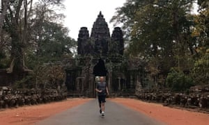 Dawn patrol: Martin Love enjoys the solitude of a morning run at Angkor