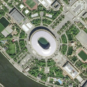 The Luzhinki Stadium in Moscow