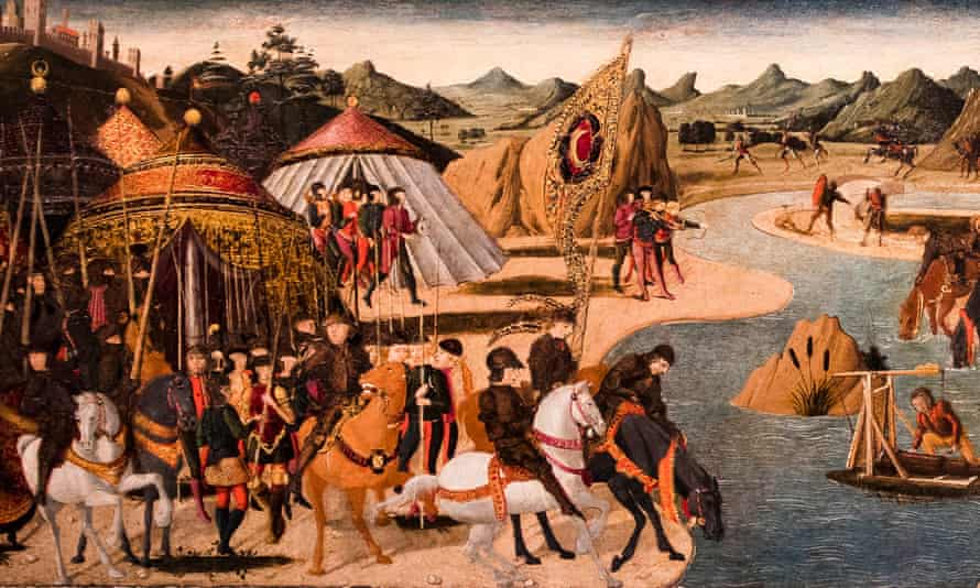 Detail from Paolo Uccello's Battle on the Banks of a River.