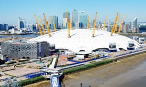 The O2 arena in Greenwich, London