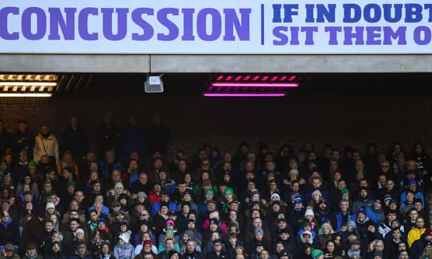 A concussion-awareness advert during the 2019 Six Nations match between Scotland and Ireland at BT Murrayfield