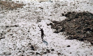 A Sentinelese tribesman photographed in 2004.
