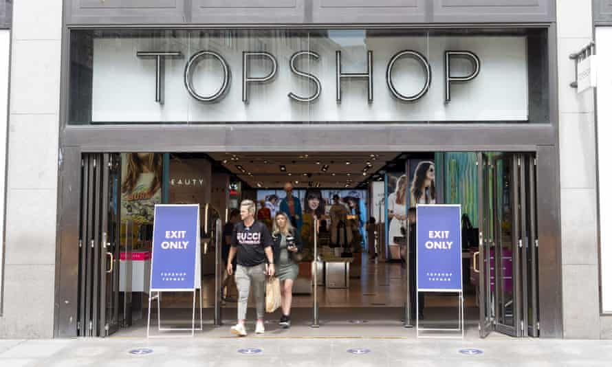 Topshop is one of the clothing chains hit by the Covid restrictions.