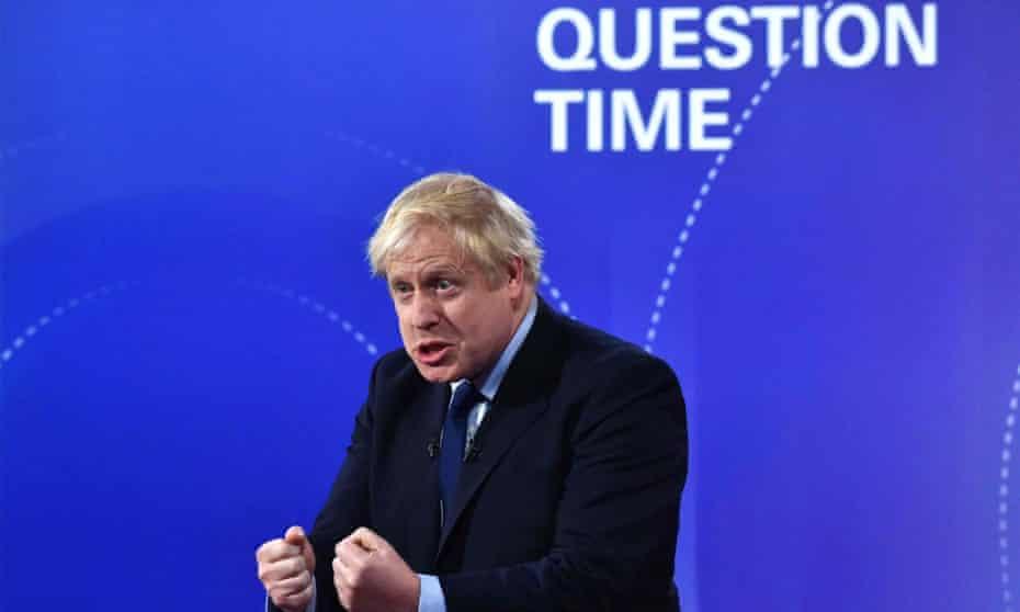 Boris Johnson on BBC Question Time leaders' debate