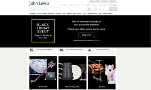 Black Friday Online Frenzy As John Lewis Sales Beat Expectations Business The Guardian