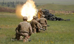 Joint military exercise of forces from Georgia, Britain and the US.