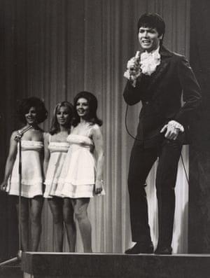 Cliff Richard Singing Congratulations at the Royal Albert Hall, i6 April 1968.