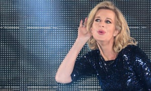 Katie Hopkins entering the Celebrity Big Brother house in 2015