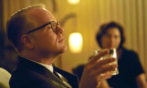 Philip Seymour Hoffman in Capote, about the writing of Truman Capote's true crime tale In Cold Blood.