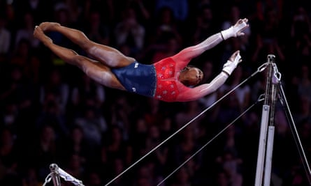 Simone Biles won her 15th career gold medal on Tuesday.