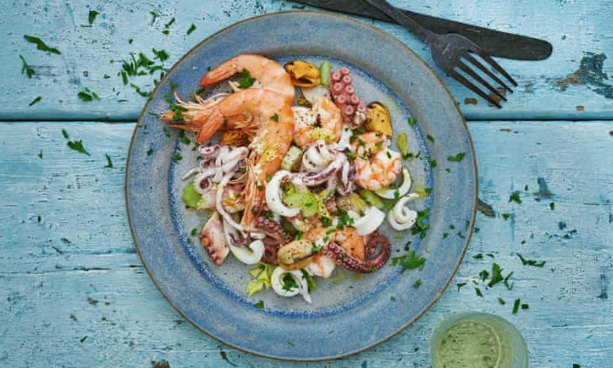 Seafood salad.