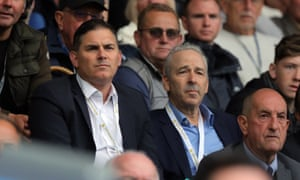 Swansea owners Jason Levien (left) and Steve Kaplan (right) are under pressure from Swansea fans.