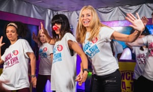Claudia Winkleman and Tess during their danceathon in aid of Comic Relief.
