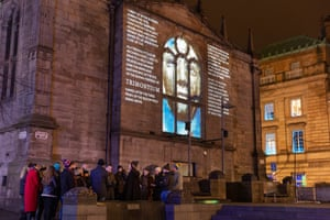 William Dalrymple projected on to Tron Kirk