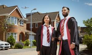 Nina Khatwa as Hermione Granger and Shivraj Singh as Ron Weasley, in Slough.