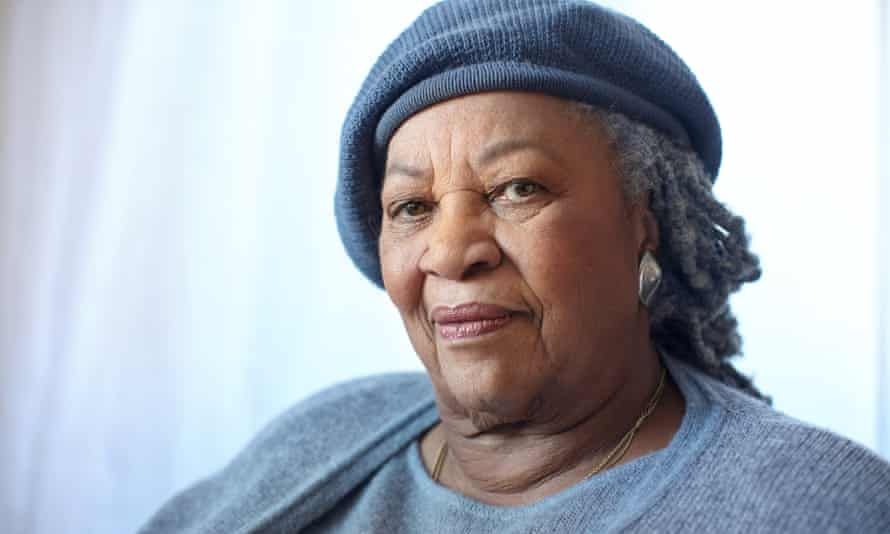 Toni Morrison, in her New York apartment. Photo by Tim Knox Commissioned for SAT REVIEW