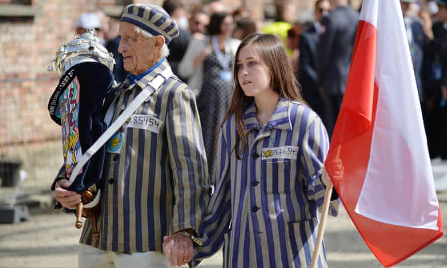 The annual March of the Living to commemorate the Holocaust.