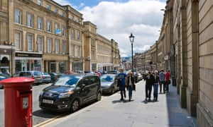 Newcastle upon Tyne, where high-street shopper numbers are down by almost 10%.