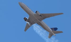 A photo provided by Instagram user Hayden Smith (speedbird5280) shows United Airlines flight 328 (Boeing 777-200, tailnumber N772UA) with an engine on fire, near Denver, Colorado, on 20 February 2021.