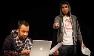 Asif Khan and Jaz Deol perform in a Tamasha scratch night at Rich Mix in Sept 2014.