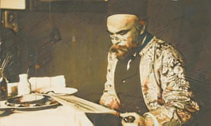 A portrait of Paul Verlaine reading by the Dutch painter Willem Witsen, reimagined by Gibon