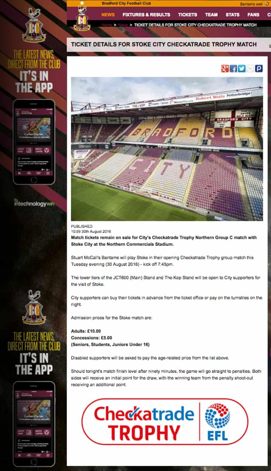Bradford City website