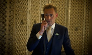 All Hellman's breaks loose ... Tom Hiddleston, dressed like a jar of mayonnaise, in The Night Manager.