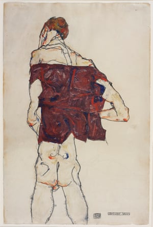 Egon Schiele's Standing Man, 1913.